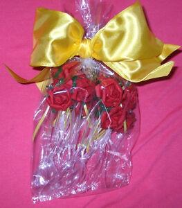 "Party Bag set NEW Disney princess RED ROSE 6"" spoons huge maze Ribbon 12 count"