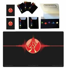 100 Double Matte Mat Sleeves Deck Protector Red Fire Double Deck Box Playmat