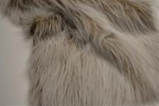 LONG Pile Fun Faux Fur Fabric Material - CAMEL FROST
