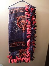 Handmade / Hand tied - Chicago Bears - 2 Layer Throw
