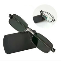 Transition Photochromic Folding Optical Myopia Reading Glasses Custom Strength