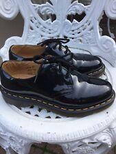 Doc Martens Black Patent Leather 1461 Shoes 3hole Uk5/38 Stunning