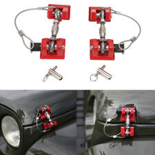Red Anti-Thief Hood Latch Catch Lcoking Hold Assembly Kits For Jeep Wrangler JK