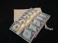 Pro Replic Money Filler Packs 5 x $10K Solid Blocks.Legal Single Sided
