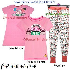 Primark Official FRIENDS Sequin T-Shirt Pyjamas Roses Leggings PJ Central Perk