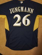 Rare Milwaukee Brewers Game Worn Issued Taylor Jungman Jersey MLB AUTHENTICATED