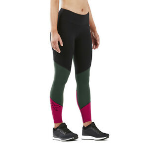 2XU Women's Fitness Mid-Rise Color Block Compression Tight - 2019
