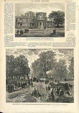 LE PARC ET FACADE  CAMBDEN HOUSE NAPOLÉON III 1873