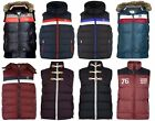 MENS DESIGNER PADDED QUILTED LINED GILET BODY-WARMER SLEEVELESS TOP JACKET