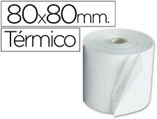 5 ROLLOS SUMADORA TERMICO Q-CONNECT 80 MM ANCHO X 80 MM DIAMETRO 35089