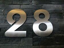 Hausnummer Edelstahl 200mm Schrifttyp Bauhaus Avantage Metall massive Ausführung