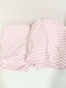 Circo Chevron Pink Design Flat & Fitted Sheet Set - 2 Pieces Twin Size Excell