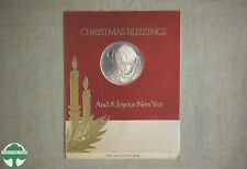 """1967 FRANKLIN MINT """"MOTHER AND CHILD"""" MEDAL & CHRISTMAS CARD - No. 123C"""