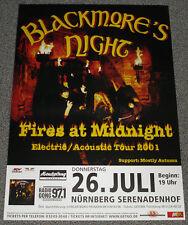 POSTER MANIFESTO-Blackmore 's Night: Fires at Midnight, 2001, formato: DIN a1
