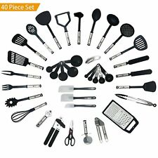 40 Piece Kitchen Utensil Set Cooking Baking & Measuring Tool/Gadget Nylon
