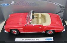 MERCEDES  190 SL CABRIO 1955 W121 1/18 RED  IN BOX