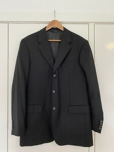 Ted Lapidus Cerruti Jacket Blazer Wool Size 50 L-XL Black EUC French Design Mens
