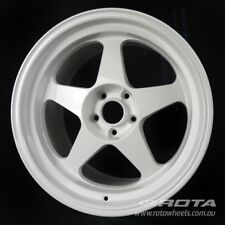 "18"" ROTA Slipstream R3 5/114.3 +15 White WHEELS RIMS FORD TOYOTA HONDA"