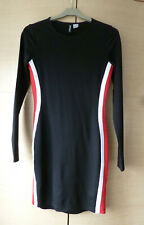 BLACK, RED & WHITE, BODYCON DRESS FROM H&M - VGC - EUR 34 (ABOUT UK 6-8)