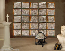 Wall Map of 1739 Paris Portfolio  by Authentic Models MC800