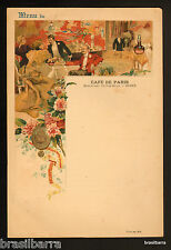 MENU DU CAFE DE PARIS à Nîmes Vers 1900-1910