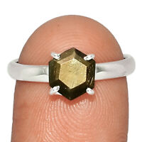 Zawadi Golden Sapphire 925 Sterling Silver Ring Jewelry s.8 BR19997 XGB