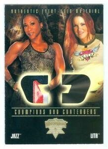 "JAZZ & LITA ""MULTI COLOR EVENT WORN CARD"" FLEER WWE WRESTLEMANIA XX"