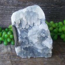 Blue Druzy Zeolite Crystal Cluster Cut Base India Display Crystals Zeolites Gems