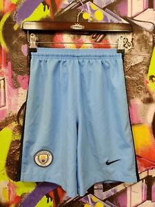 Manchester City FC Football Soccer Training Shorts Nike Youth Size L 12-13 Years