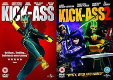 KICK ASS COMPLETE COLLECTION PART 1 2 Aaron Johnson, Chloe Grace NEW UK R2 DVD