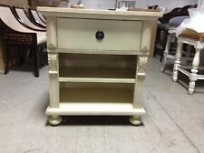 Pottery Barn Sofia Bed Side Sofa Table Nightstand Antique Almond Cabinet Shabby