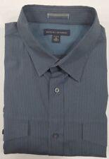 New Banana Republic Men's Dress Shirt Blue/Gray Striped Stretch Size XL