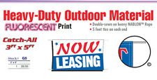 Now Leasing Banner Sign apartment rental 1 month free rent open house lease