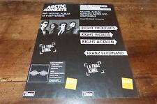 ARCTIC MONKEYS & FRANZ FERDINAND - Publicité de magazine / Advert !!!