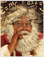 20 Christmas Humorous Santa Einstein Greeting Flat Cards Envelopes Seals