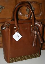 COACH 50470 LEGACY MINI TANNER CROSSBODY IN STUDDED LEATHER SADDLE BROWN BNWT
