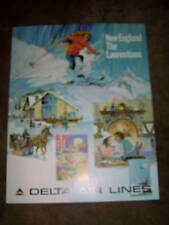 DELTA AIR LINES - NEW ENGLAND - LARGE POSTER 28 x 22    NEW