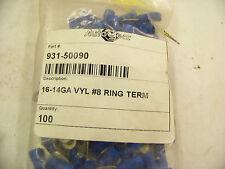 Autogear 931-50090 16-14GA VYL #8 Ring Terminal, crimp on connector, bag of 100