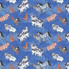 Jim Shore Noahs Ark Animal Toss  100% cotton fabric by the yard