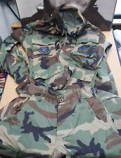 US Air Force Reserve Command Camo Uniform X-Small Short Shirt & Pants 76th APS