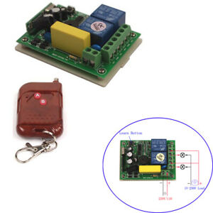 220 V 2 channel Home Wireless Switch Receiver+1/2/3 transmitter Remote Control