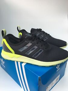 adidas ZX Flux ADV Trainers Sneakers AQ4906 UK 6.5 Brand New In Box Black Halo