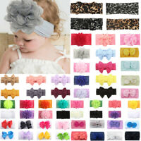 Girls Baby Toddler Turban Floral Headband Hair Band Bow Accessories Headwear