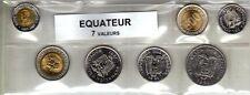 Equateur série de 7 pièces de monnaie