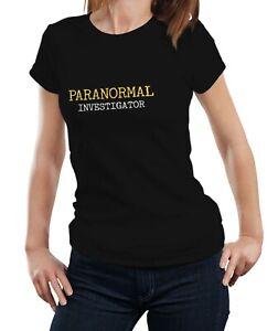 Paranormal Investigator - Ghost Hunter Haunted Gift Women Ladies Tshirt T-shirt