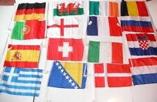 2 x World Cup Car Flags France,England,Russia,Uruguay,Brazil,Belgium,Croatia +++