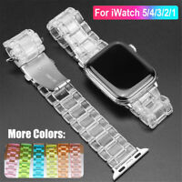 Clear Watch Band Strap For Apple Watch Series 5 4 3 2 1 For iWatch 38 42 40 44mm