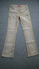 VS Collection Lady Woman Stretch Jeans Low Rise Light Brown White Size 25