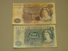 More details for 2 old banknotes £5 and £10