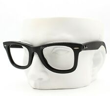 Ray-Ban RB 2140-Q-M Wayfarer Sunglasses Frame Black Genuine Leather 50-22-145